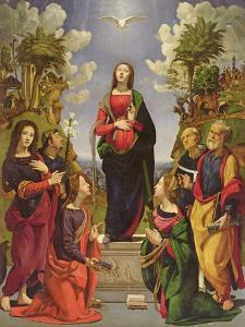 Immaculate Conception and Six Saints by Piero di Cosimo