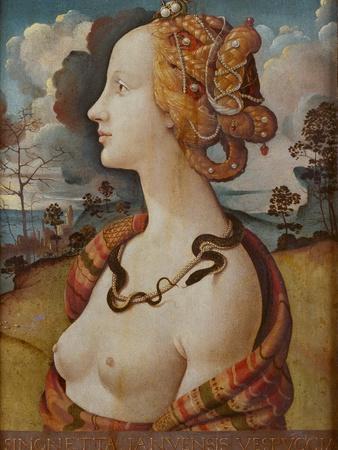 Portrait of Simonetta Vespucci (Cleopatr), C. 1480