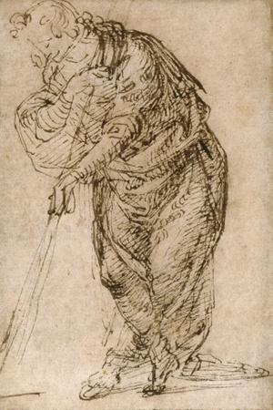 Standing Figure Leaning on a Staff, C.1510