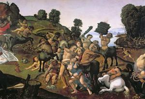 The Fight Between the Lapiths and the Centaurs by Piero di Cosimo