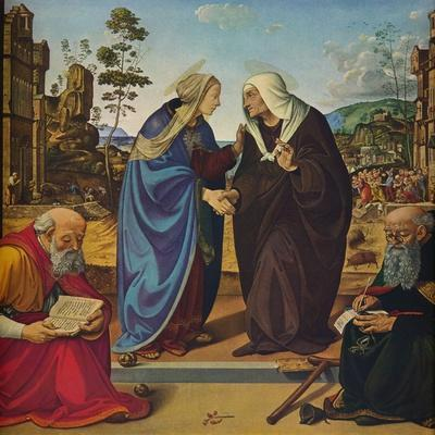 'The Visitation with Saints Nicholas and Anthony Abbot', c1489-1490