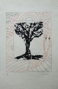 Arbre Central, À L'Orange by Pierre Alechinsky