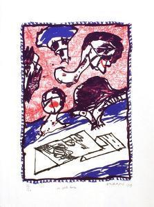 En pente douce by Pierre Alechinsky