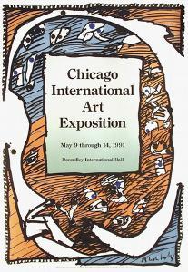 Expo 132 - Chicago Art Exposition by Pierre Alechinsky