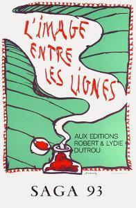 Expo 136 - Saga 93 by Pierre Alechinsky