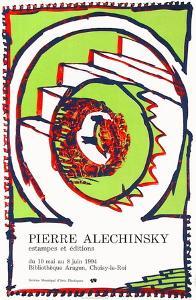 Expo 144 - Bibliothèque Aragon by Pierre Alechinsky