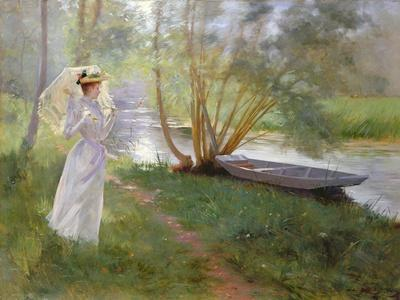 A Walk by the River, 1890