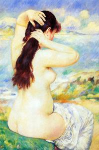 A Bather by Pierre-Auguste Renoir