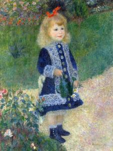 A Girl with a Watering Can, 1876 by Pierre-Auguste Renoir