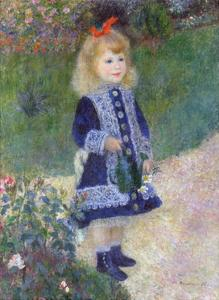 A Girl with a Watering Can by Pierre-Auguste Renoir by Pierre-Auguste Renoir
