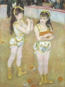 Acrobats at the Cirque Fernando, Francisca and Angelina Wartenberg, 1879 by Pierre Auguste Renoir