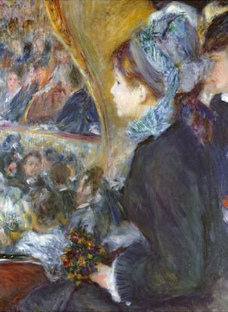 At the Theatre (La Premiere Sortie), 1876-7 by Pierre-Auguste Renoir