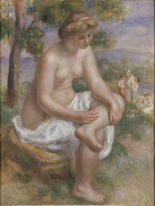 Baigneuse assise dans un paysage, dite Eurydice by Pierre-Auguste Renoir