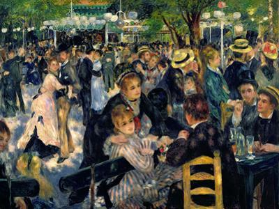 Ball at the Moulin De La Galette, 1876 by Pierre-Auguste Renoir