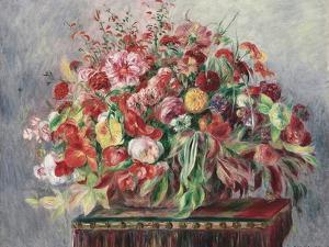 Basket of Flowers, 1890 by Pierre-Auguste Renoir