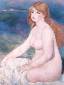 Bather (Blonde Bather II) 1882 by Pierre-Auguste Renoir