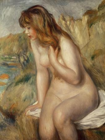 Bather Seated on a Rock, 1892 by Pierre-Auguste Renoir
