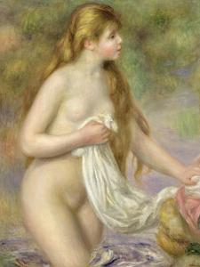 Bather with Long Hair, circa 1895 by Pierre-Auguste Renoir