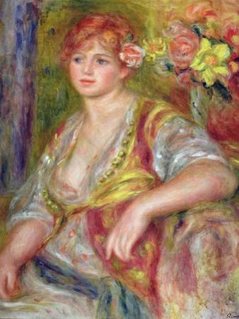 Blonde Woman with a Rose, c.1915-17 by Pierre-Auguste Renoir