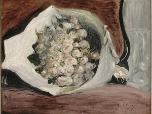 Bouquet dans une loge by Pierre-Auguste Renoir