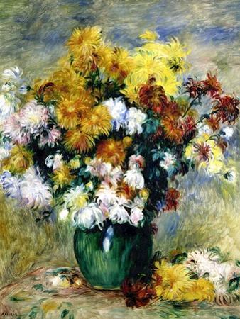 Bouquet de chrysanthèmes by Pierre-Auguste Renoir