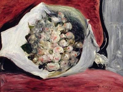 Bouquet in a Theatre Box, C.1878-80 by Pierre-Auguste Renoir