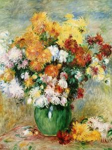 Bouquet of Chrysanthemums, circa 1884 by Pierre-Auguste Renoir