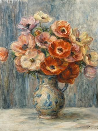 Bouquet of Flowers in a Ceramic Vase by Pierre-Auguste Renoir