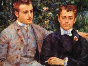 Charles and George Durand-Ruel by Pierre-Auguste Renoir