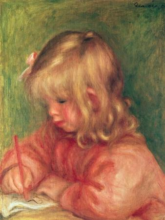 Child Drawing, 1905 by Pierre-Auguste Renoir