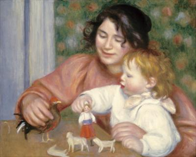 Child with Toys - Gabrielle and the Artist's Son, Jean by Pierre-Auguste Renoir