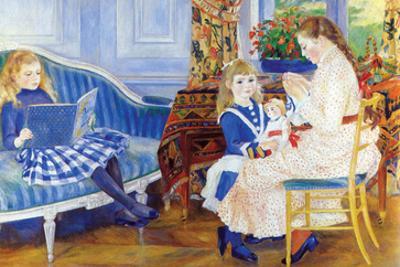 Children in the Afternoon in Wargemont by Pierre-Auguste Renoir