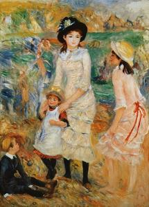 Children on the Seashore, Guernsey by Pierre-Auguste Renoir