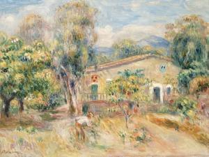 Collettes Farmhouse, Cagnes, La Ferme De Collettes, Cagnes, 1910 by Pierre-Auguste Renoir