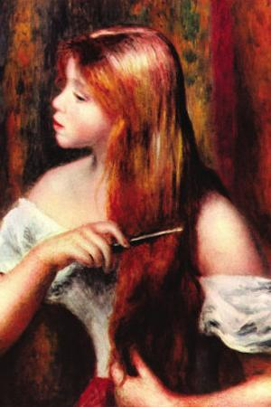 Combing Girl by Pierre-Auguste Renoir