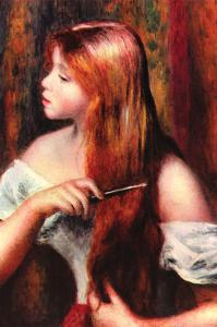 Combing Girl by Pierre-Auguste Renoir