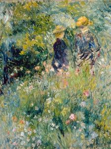 Conversation in a Rose Garden by Pierre-Auguste Renoir
