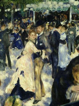 Couples Dancing, from Bal Du Moulin De La Galette, Dance at Moulin De La Galette, Paris, 1876 by Pierre-Auguste Renoir
