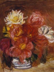 Dahlias; Les Dahlias by Pierre-Auguste Renoir