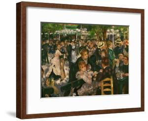 Dance at the Moulin De La Galette, 1876 by Pierre-Auguste Renoir
