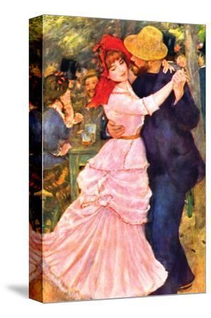 Dance in Bougival (Detail) by Pierre-Auguste Renoir