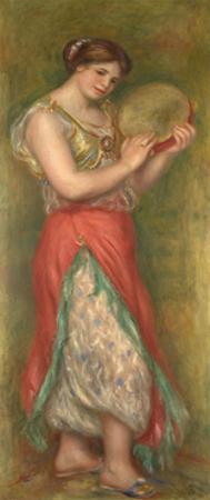 Dancing Girl with Tambourine, 1909 by Pierre-Auguste Renoir