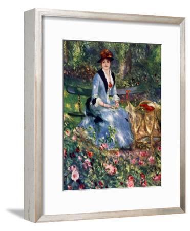 Dans Les Roses, 1882 by Pierre-Auguste Renoir
