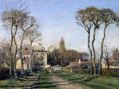 Entrance to the Village of Voisins, Yvelines, 1872 by Pierre-Auguste Renoir