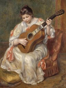 Femme jouant de la guitare by Pierre-Auguste Renoir