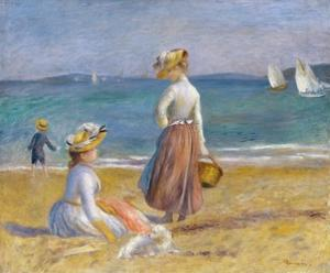 Figures on the Beach by Pierre-Auguste Renoir