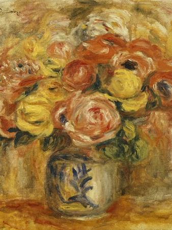 Flowers in a Blue and White Vase; Fleurs Dans Un Vase Bleu et Blanc, 1915 by Pierre-Auguste Renoir