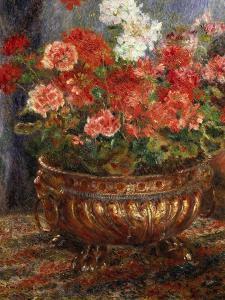 Flowers in a Brazen Vessel, 1880 by Pierre-Auguste Renoir