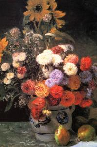 Flowers in a Vase by Pierre-Auguste Renoir