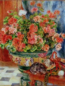 Geraniums and Cats, 1881 by Pierre-Auguste Renoir